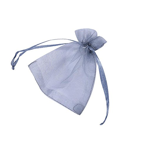 Binmer(TM)100pcs Organza Wedding Party Decoration Gift Candy Sheer Bags Pouches (Gray)