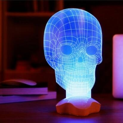 Hanperal Optical Illusion Visualization 3d Skull Led Lamp