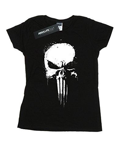 negro Spray Marvel Skull Woman camiseta Punisher xwqSFF7YX