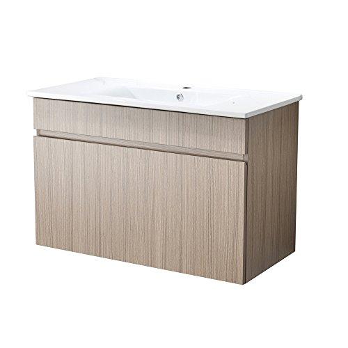 RESSORTIR RES-25BC010 Modern Bathroom Vanity, Oak