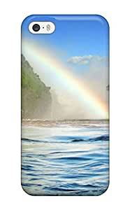 8181235K10974878 Special Design Back Rainbow Over Water Phone Case Cover For Iphone 5/5s