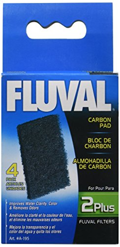Fluval 2 Plus Carbon Pads, 4-Pack - Fluval Plus Internal Filter
