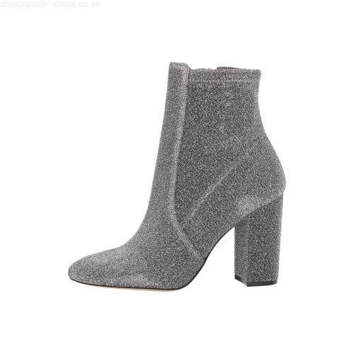 ALDO Womens aurella-81 Closed Toe Mid-Calf Fashion Boots, Silver, Size 5.0