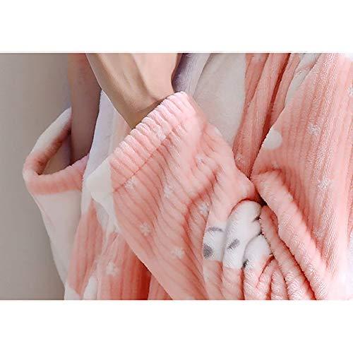 Las Para Bata Baño Ducha Dormir Bata Batas De Suave Rosado Gruesa Envolver Felpa Señoras tnw0RYqBX