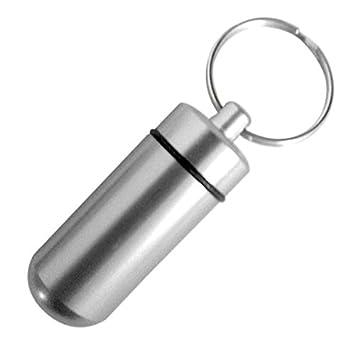 Llavero con cápsula de aluminio impermeable, para ...