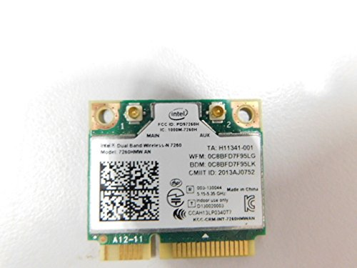 Intel Wireless-N 7260 (7260HMW AN) Intel Dual Band Wireless-AC 7260 Plus...