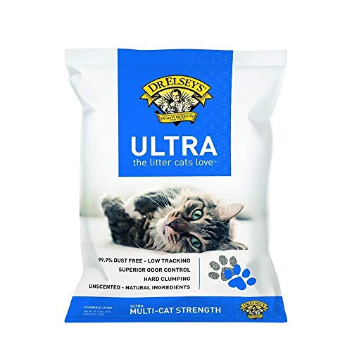 Litter Bag 40lb Cat Clumping (Dr.Elsey's Feline Ultra Premium Clumping Cat Litter 40 Pound Bag)