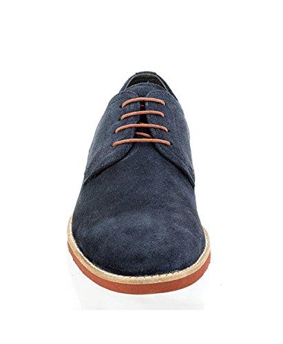Ruban Rouge bromham Smart Casual à lacets en daim bleu marine