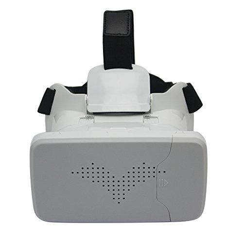 Svpro bluetooth 3D VR headset glasses with comfortable adjustable head straps and clear image,suitable with iall kinds of phones (white)