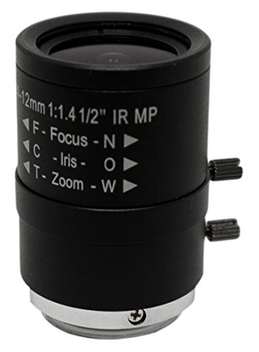 StarDot [並行輸入品] 4-12mm f Lens/1.4-1.4 Body Only Camera Lens Black Black (LEN-MV412CS) [並行輸入品] B07FPVJ7HR, チュウオウチョウ:b48b373b --- ijpba.info
