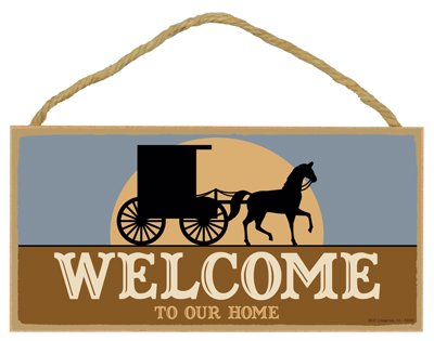 SJT ENTERPRISES, INC. Welcome to Our Home (Amish Buggy and Horse with Sunrise) 5
