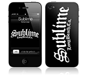 Zing Revolution MS-SUBL50133 Sublime - Stamp Logo Cell Phone Cover Skin for iPhone 4/4S