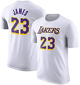 Camiseta De Baloncesto para Hombre Los Angeles Lakers Lebron James Swingman Camisa De Manga Corta Ropa para Jóvenes Sudadera S-XXXL Blanco: Amazon.es: Ropa y accesorios