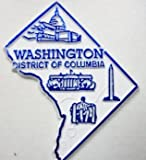 Washington DC District of Columbia Map Fridge Magnet