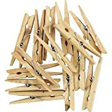 SupaHome Wooden Hardwood Clothes Pegs Pack Of 36