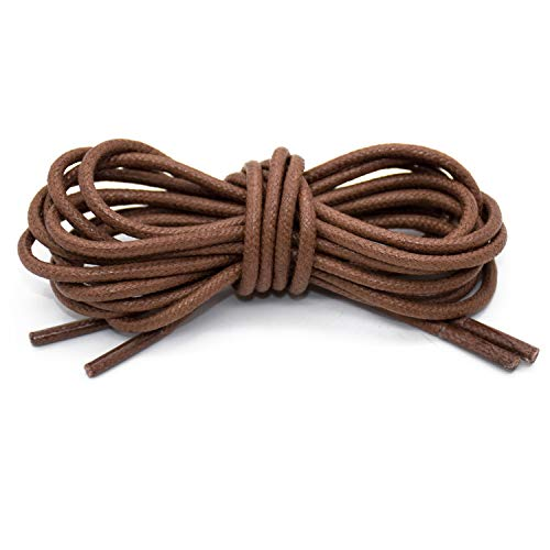 90 cm long fit elegant shoes Leather laces round Dark Brown super thin 2.5 mm