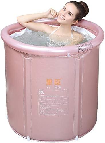 Kylincde 折り畳み式の風呂バレル大人インフレータブルバスタブ厚み付けバスタブホームで網バスタブ断熱ポータブルバスタブ簡単にきれいなスタンド (Size : 65*75cm)