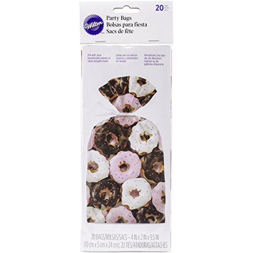 Wilton 1912-9921 20 Count Donut Pattern Party Bags, (Donut Party Favors)