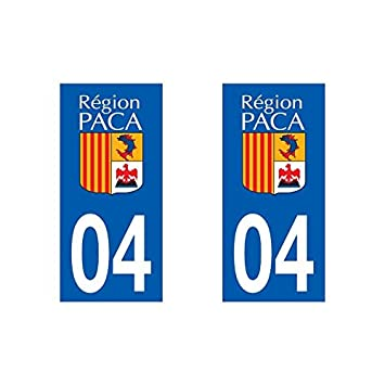 Self adhesive number plate registration sticker for car provence alpes côte d