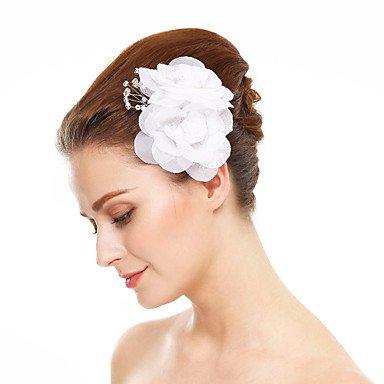 YiLuFanHua MJW&G Femme Imitation de Perle Mousseline Casque-Mariage Occasion spéciale Fleurs 1 Pièce