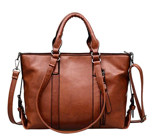 Color : Brown, Size : L JWI Business Bag Water Repellent Finish