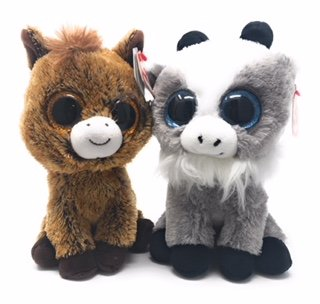 Amazon.com  TY beanie boos set of 2 f5fc9a61306