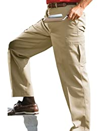 Men's Big and Tall Button Closure Chino Pant