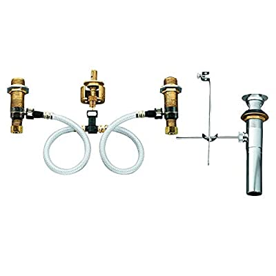 MOEN 9000 Collection Widespread Lavatory Rough-In Valve with Drain Assembly Featuring M-PACT Technology, 0.5, or or Unfinished