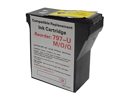 0 Ink Cartridge - Monoprice 111725 MPI Compatible Pitney Bowes 797-0 Postage Meter Ink Red