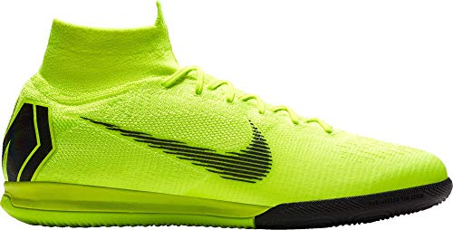 Nike Mens SuperflyX 6 Elite IC Indoor/Court Football Boot (Volt/Black) (10 Mens US) ()