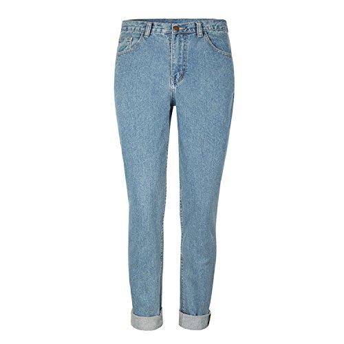 Eagerness Jeans Femme Taille Haute Pantalon Grande Taille Lache Denim Casual Leggings Fashion Chic