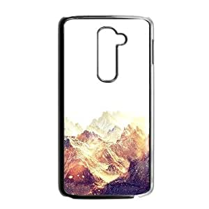 LG G2 Cell Phone Case Black_Snow Ski Red Mountain Night Winter Nature Uakms