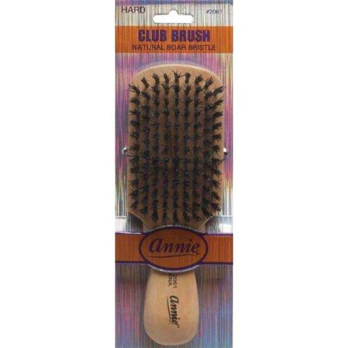 Annie Natural Boar Bristle Hard Club Brush #2061, Reinforced boar bristles, reinforced bristles, wavy hair, straight hair, long hair, short hair, no more tangles, detangler