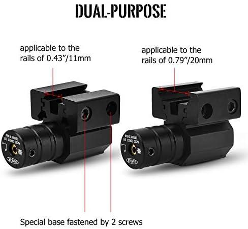 Mini Red Dot Laser Sight Picatinny 11mm//20mm Scope Mount for Rifle Gun Pistol Q