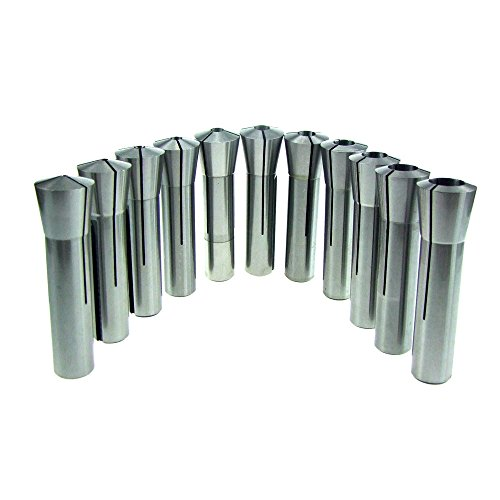 HFS (R) 11 Piece R8 Collet Set (1/8-3/4 Inch By 16THS) 11 Piece Fractional Set