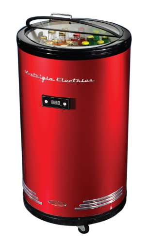Nostalgia BPC700RETRORED Retro Series 60-Can Party Cooler