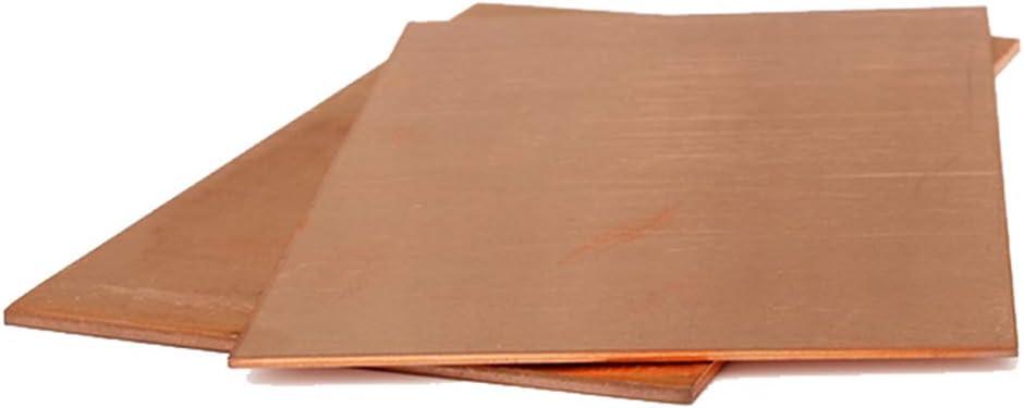 Thick 2mm,100x100mm Dumadf 99.9/% Pure Copper Cu Sheet DIY High Purity Copper Sheet Thin Metal Foil