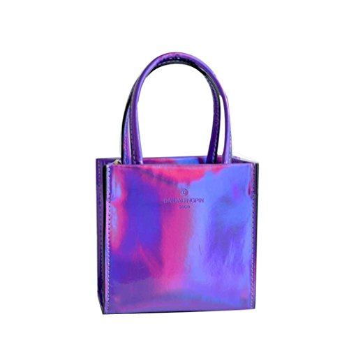 Handbag,Han Shi Fashion Women Shoulder Bag Modern Tote Ladies Purse Casual Party Bags (Purple, M)