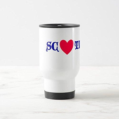 - Feddiy Tumbler-Stainless Steel Travel Mug,14 oz Funny Coffee Mug-Scotland coils White 14 oz