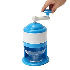 Portable Hand Crank Manual Ice Shaver Crusher Shredding Snow Cone Maker Machine.