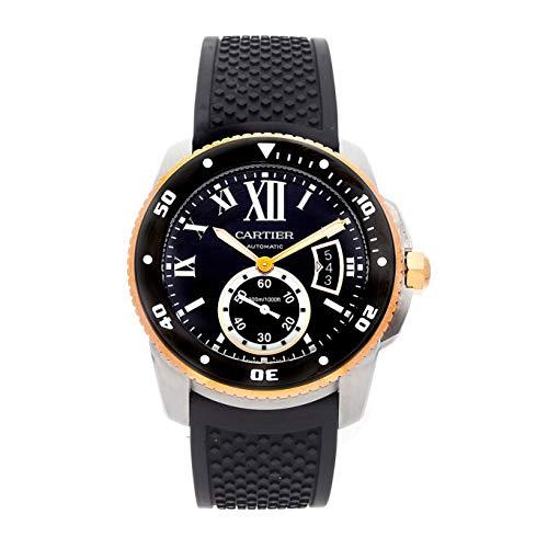 (Cartier Calibre de Cartier Mechanical (Automatic) Black Dial Mens Watch W7100055 (Certified Pre-Owned))