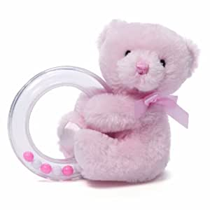 Gund Baby Gund My 1st Teddy Ring Rattle, Pink (Discontinued by Manufacturer)