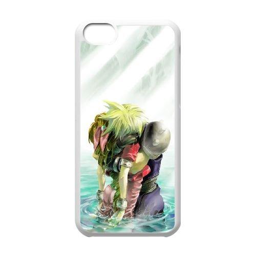 Final Fantasy 020 coque iPhone 5C Housse Blanc téléphone portable couverture de cas coque EOKXLLNCD10888