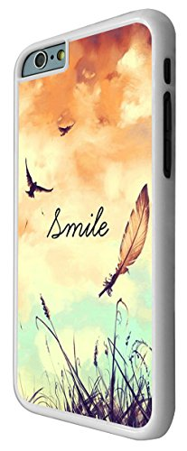 187 - Cute Birds And Sky Smile Fun Design iphone 6 Plus / iphone 6 Plus 5.5'' Coque Fashion Trend Case Coque Protection Cover plastique et métal - Blanc