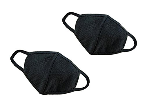 ALIMITOPIA Guaze Mask,Adult Three Ply Activated Carbon Pure Cotton Recycling Face Mouth Mask -