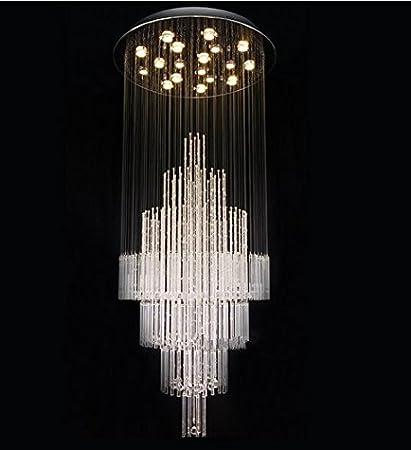 GOWE diseño de moda ronda cristal lámpara de araña moderna ...