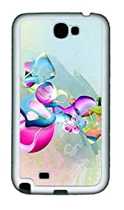 Abstract Art Pattern Personalized Samsung Galaxy Note 2/ Note II/ N7100 Case and Cover - TPU - Black