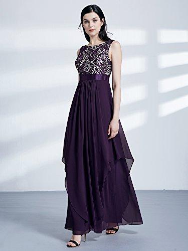 Rond lgante Ever Fonc de Pretty en Femme Soire Empire Col 08217 Violet Robe qX8UCq