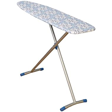 Household Essentials Classic Top T-Leg Ironing Board with Cotton Cover, Magic Rings