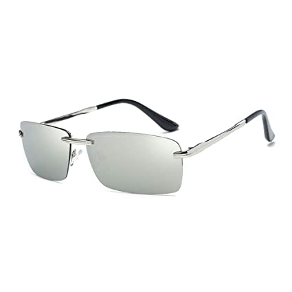 QZHE Gafas de sol Gafas De Sol Rectangulares Sin Marco ...
